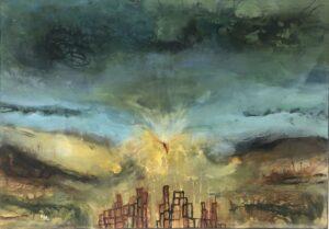 Et naturalistisk maleri af Charlotte Toender. Sælges i Galleri Charlotte Tønder