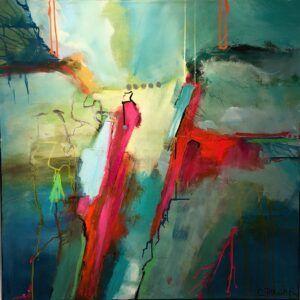 Farverigt maleri til hjemmet