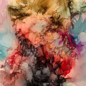 "Maleri Charlotte Toender ""ERUPTION"""