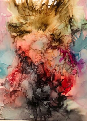 "Painting Charlotte Toender ""ERUPTION"""