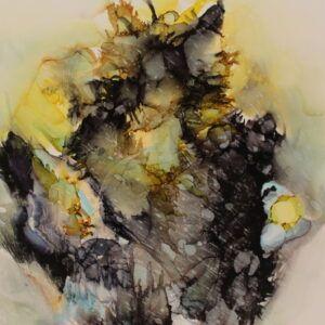 Alkohol Ink maleri af Charlotte Tønder