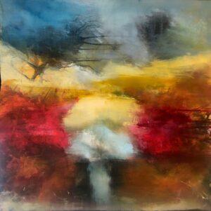 Explode - maleri Charlotte Toender - abstrakt og farverigt