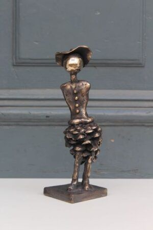 Bronze sculpture with pine cones by Charlotte Tønder