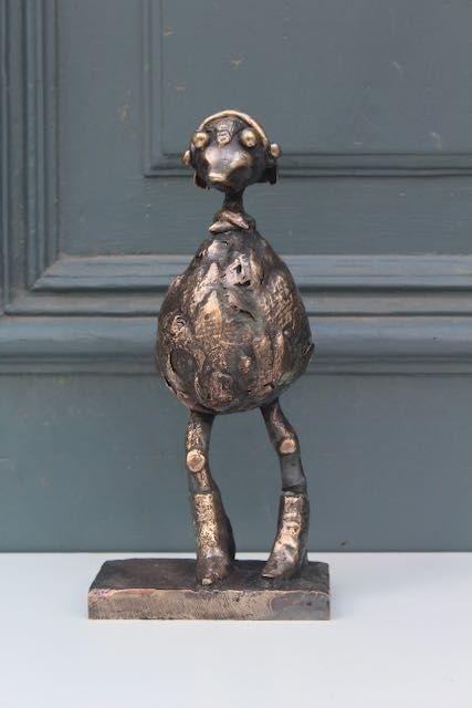 Bronzeskulptur Artiskok af Charlotte Tønder