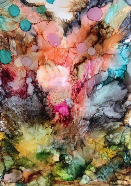 Joy - malerier af Charlotte Tønder