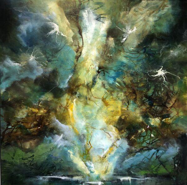 Farverigt maleri Charlotte Tønder